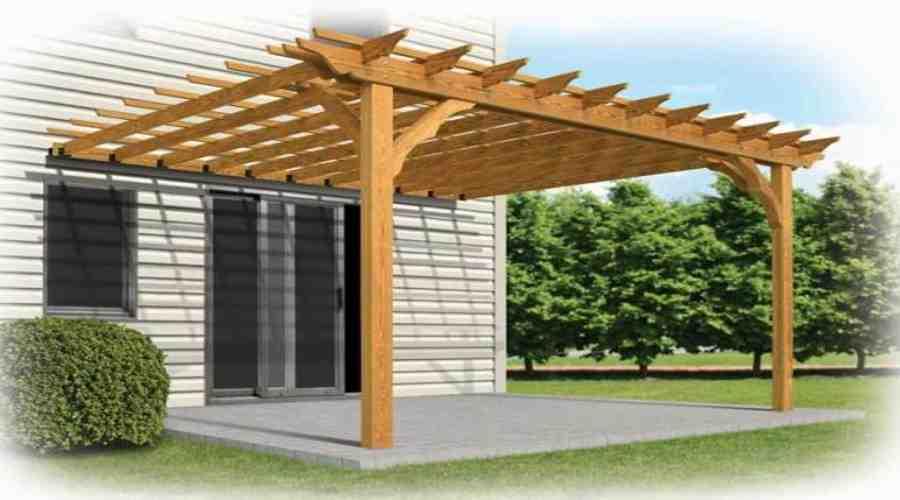 Cubiertas de madera casas de madera estructuras de for Estructuras de jardin